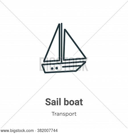 Sail boat icon isolated on white background from transport collection. Sail boat icon trendy and mod