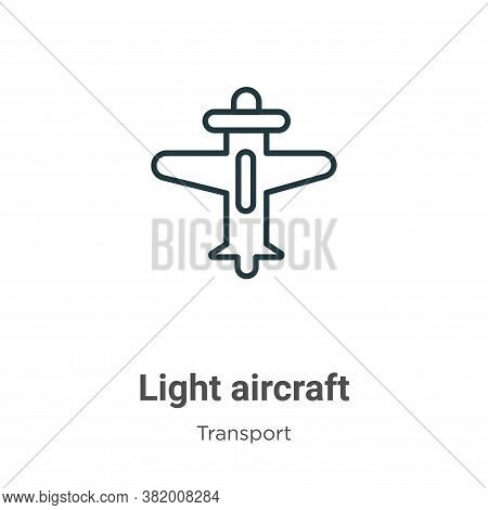 Light aircraft icon isolated on white background from transport collection. Light aircraft icon tren