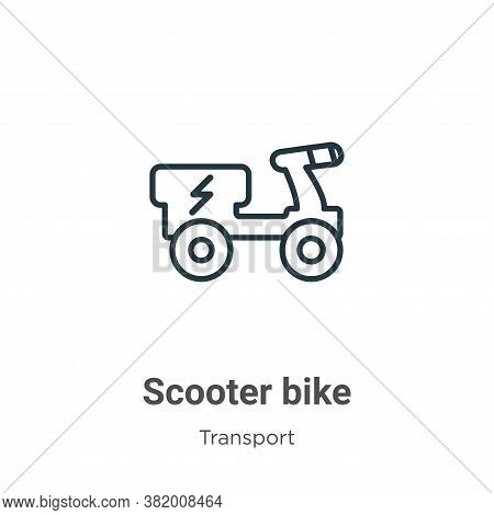 Scooter bike icon isolated on white background from transport collection. Scooter bike icon trendy a