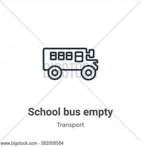 School bus empty icon isolated on white background from transport collection. School bus empty icon