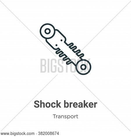 Shock breaker icon isolated on white background from transport collection. Shock breaker icon trendy