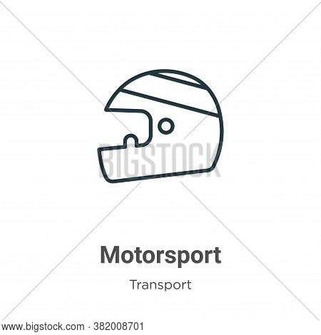 Motorsport icon isolated on white background from transport collection. Motorsport icon trendy and m