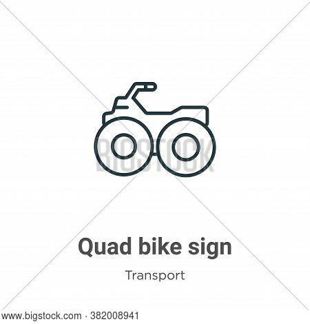 Quad bike sign icon isolated on white background from transport collection. Quad bike sign icon tren