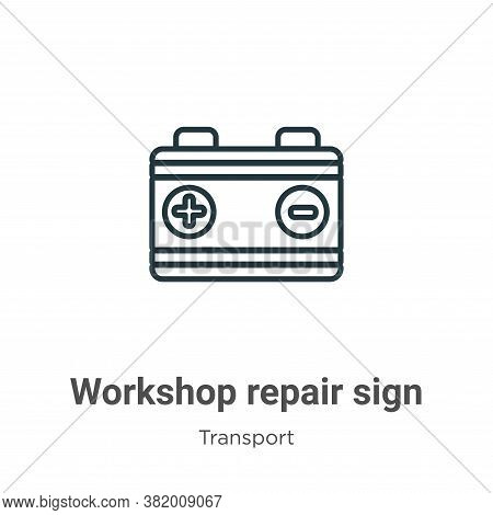 Workshop repair sign icon isolated on white background from transport collection. Workshop repair si