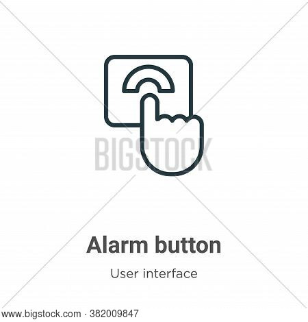 Alarm button icon isolated on white background from user interface collection. Alarm button icon tre