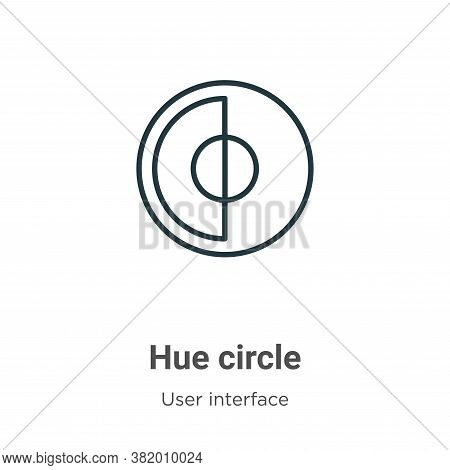 Hue circle icon isolated on white background from user interface collection. Hue circle icon trendy