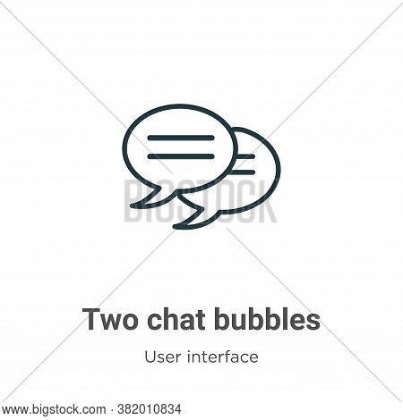 Two chat bubbles icon isolated on white background from user interface collection. Two chat bubbles
