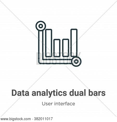 Data analytics dual bars icon isolated on white background from user interface collection. Data anal