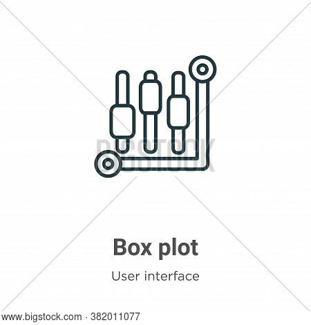 Box plot icon isolated on white background from user interface collection. Box plot icon trendy and
