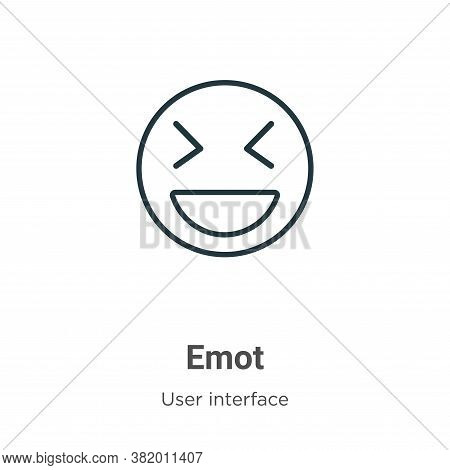 Emot icon isolated on white background from user interface collection. Emot icon trendy and modern E