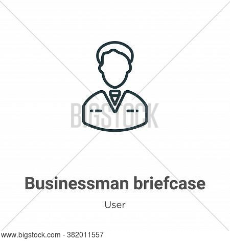 Businessman briefcase icon isolated on white background from user collection. Businessman briefcase