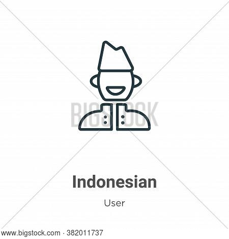 Indonesian icon isolated on white background from user collection. Indonesian icon trendy and modern