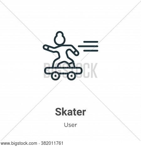 Skater icon isolated on white background from user collection. Skater icon trendy and modern Skater