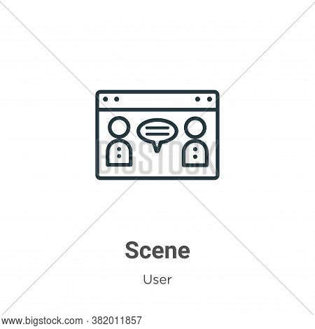 Scene icon isolated on white background from user collection. Scene icon trendy and modern Scene sym