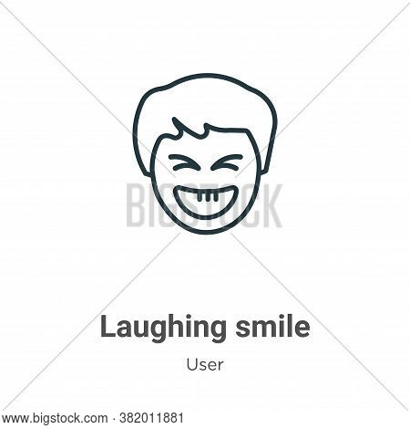 Laughing smile icon isolated on white background from user collection. Laughing smile icon trendy an