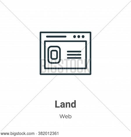 Land icon isolated on white background from web collection. Land icon trendy and modern Land symbol