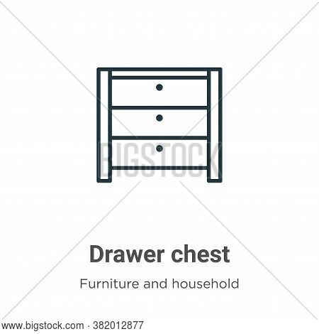 Drawer chest icon isolated on white background from furniture and household collection. Drawer chest