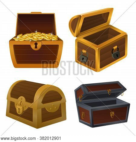 Dower Chest Icons Set. Cartoon Set Of Dower Chest Vector Icons For Web Design