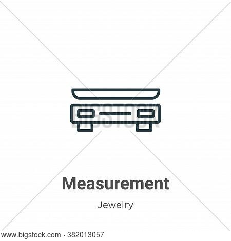 Measurement icon isolated on white background from jewelry collection. Measurement icon trendy and m