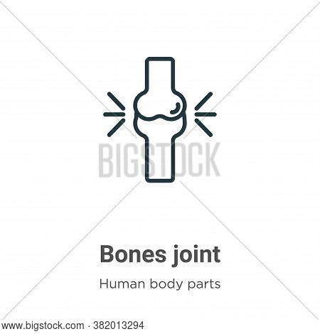 Bones joint icon isolated on white background from human body parts collection. Bones joint icon tre