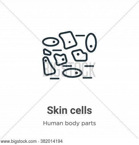 Skin cells icon isolated on white background from human body parts collection. Skin cells icon trend