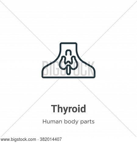 Thyroid icon isolated on white background from human body parts collection. Thyroid icon trendy and