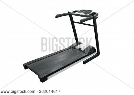 Sports Trainer Treadmill Isolated On White Background
