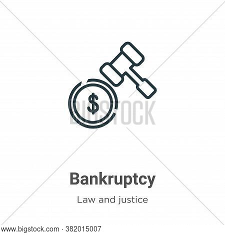 Bankruptcy icon isolated on white background from law and justice collection. Bankruptcy icon trendy