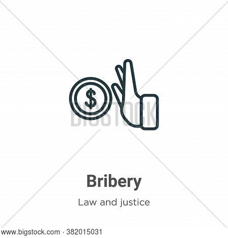 Bribery icon isolated on white background from law and justice collection. Bribery icon trendy and m