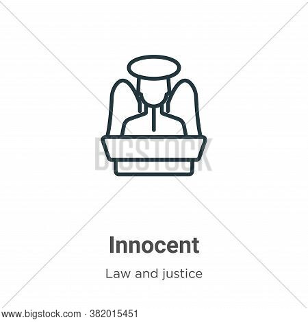Innocent icon isolated on white background from law and justice collection. Innocent icon trendy and