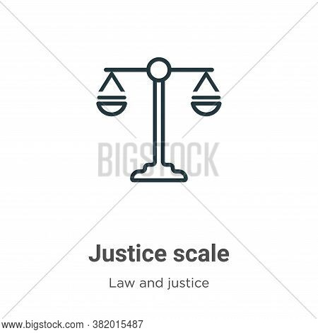 Justice scale icon isolated on white background from law and justice collection. Justice scale icon