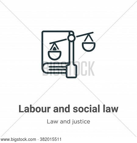Labour and social law icon isolated on white background from law and justice collection. Labour and