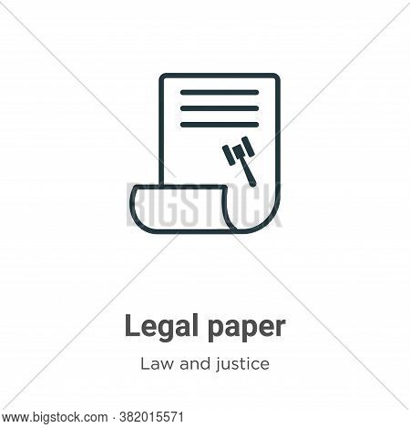 Legal paper icon isolated on white background from law and justice collection. Legal paper icon tren