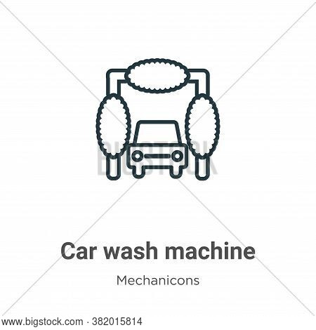 Car wash machine icon isolated on white background from mechanicons collection. Car wash machine ico