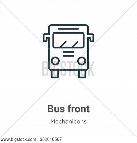Bus front icon isolated on white background from mechanicons collection. Bus front icon trendy and m