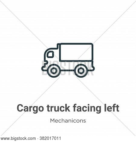Cargo truck facing left icon isolated on white background from mechanicons collection. Cargo truck f