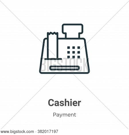 Cashier icon isolated on white background from payment collection. Cashier icon trendy and modern Ca