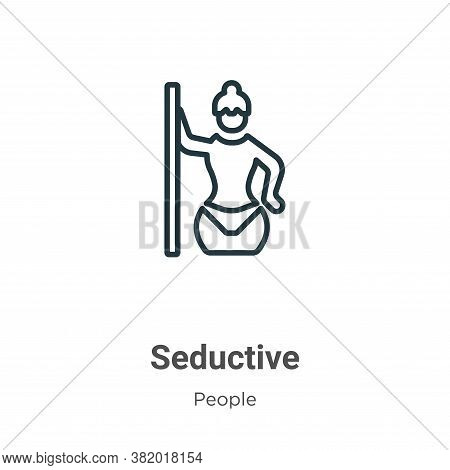 Seductive icon isolated on white background from people collection. Seductive icon trendy and modern