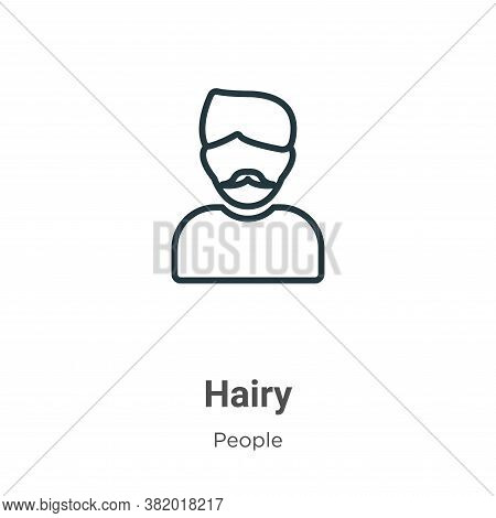 Hairy icon isolated on white background from people collection. Hairy icon trendy and modern Hairy s