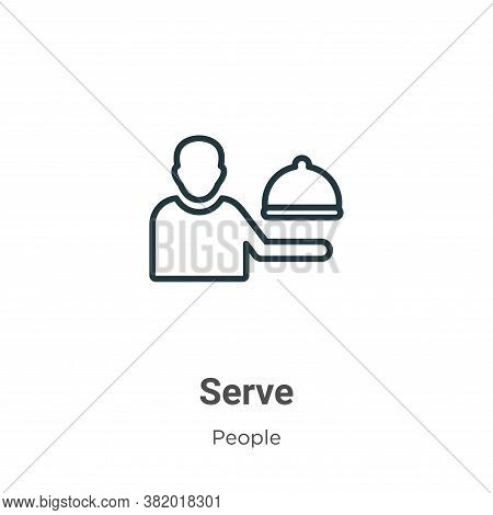 Serve icon isolated on white background from people collection. Serve icon trendy and modern Serve s