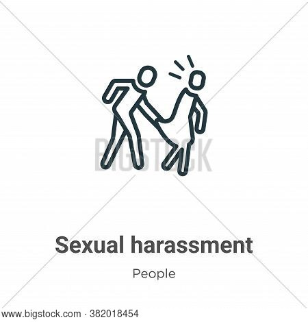 Sexual harassment icon isolated on white background from people collection. Sexual harassment icon t