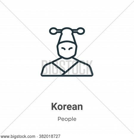 Korean icon isolated on white background from people collection. Korean icon trendy and modern Korea