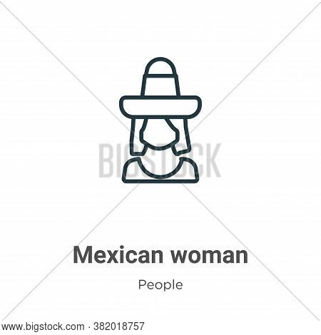 Mexican woman icon isolated on white background from people collection. Mexican woman icon trendy an