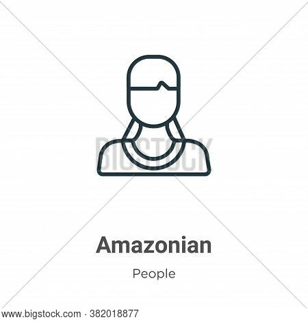 Amazonian icon isolated on white background from people collection. Amazonian icon trendy and modern
