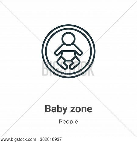 Baby zone icon isolated on white background from people collection. Baby zone icon trendy and modern