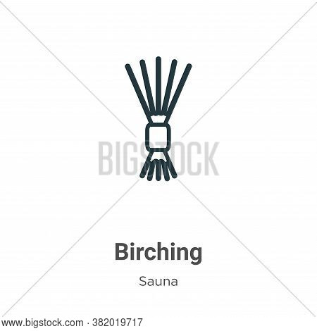 Birching icon isolated on white background from sauna collection. Birching icon trendy and modern Bi