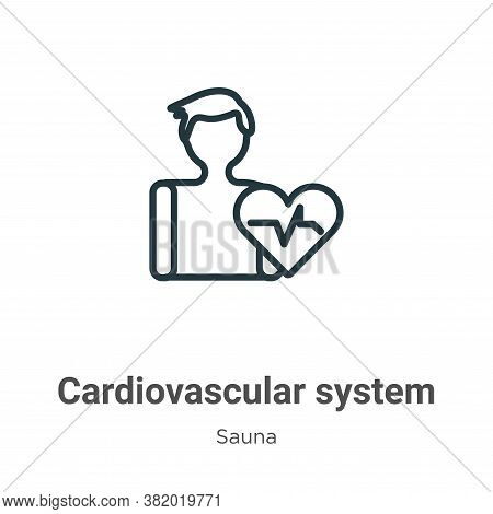 Cardiovascular system icon isolated on white background from sauna collection. Cardiovascular system