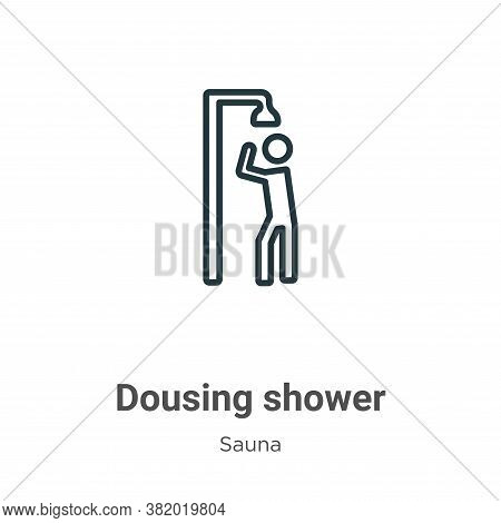 Dousing shower icon isolated on white background from sauna collection. Dousing shower icon trendy a