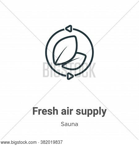 Fresh air supply icon isolated on white background from sauna collection. Fresh air supply icon tren
