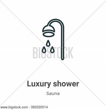 Luxury shower icon isolated on white background from sauna collection. Luxury shower icon trendy and